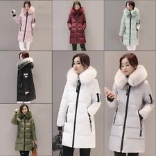 Women's Ultra light Down Hooded Long Jacket Puffer Winter long Parka Coat FR