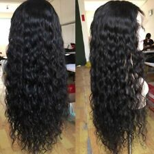 Silky Straight Brazilian Remy Human Hair Full Lace Wig With Baby Hair Curly Sq1