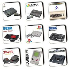 Retro Gaming Game Consoles - Gaming - Coasters - Wood - Gaming Gifts - 4 FOR 3