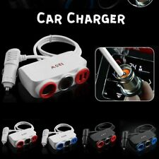2 in 1 Car Charger 120W Car Cigarette Lighter Socket Charger Dual USB Charger E