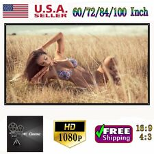 """100"""" 16:9 Portable Projection Screen 3D Projector Home Theater Cinema HD Movies"""