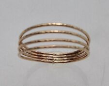 SIZE 9 14K GOLD FILLED QUADRUPLE BAND THUMB RING