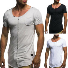 Fashion Slim Fit Short Sleeve Tops Muscle Men's Casual T-shirt Summer Basic Tops