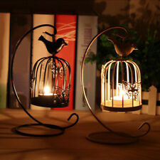 BU_ Birdcage Style Hanging Candle Holder Stand Vintage Lantern Wedding Decor Uti
