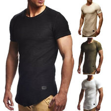 Men's Slim Fit O Neck Short Sleeve Muscle Tee T-shirt Casual Sports Tops Blouse
