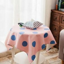 Pink Blue Color Geometric Pattern Polyester Material Table Cloth For Home