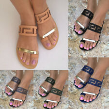 Women's Summer Flats Open Toe Sandals Slippers Shoes Beach Flip-Flops Plus Size