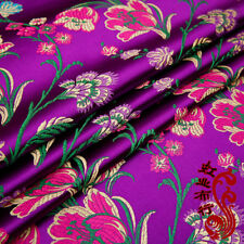 Vintage Chinese Satin Flowers Fabric Tulip Damask Brocade DIY Bag Clothes Craft
