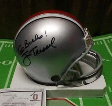 JIM TRESSEL Ohio State Auto Signed Mini Riddell Helmet! Signed GO BUCKS! CFHOF.