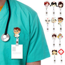 Retractable Badge Reel Nurse Exihibiton ID Name Card Badge Holder Supplie Tool
