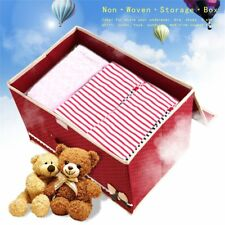 Bowknot Non Woven Storage Box Case Clothes Container Waterproof Organizer Bins~Z