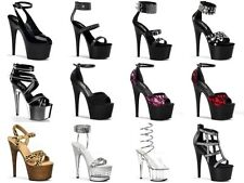PLEASER ADORE Rhinestones Spikes Lace Club Stripper Pole Dancer Platforms Heels