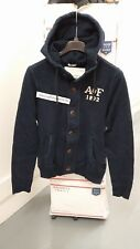 ABERCROMBIE & FITCH MENS HOODIES SWEATSHIRT JACKET NAVY SIZE XLARGE