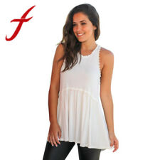 Feitong Sexy Women Tank Tops Summer Sexy Sleeveless Lace Patchwork Casual T