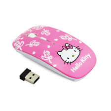 Hello Kitty Wireless Optical Computer Mouse 2.4GHz 1600DPI ! BEST OFFER