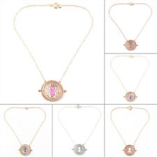 Cool Fashion Magic Time Turner Necklace Rotating Spins Hourglass Necklace XO