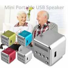 Portable Micro SD TF USB Mini Stereo Speaker Music Player PC MP3 /4 FM Radio A