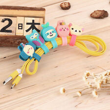 Headphone Earphone Earbud Silicone Cable Cord Wrap Winder Organizer Holder MN