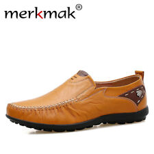 Merkmak Soft Leather Men Loafers New Handmade Casual Shoes Men Moccasins For