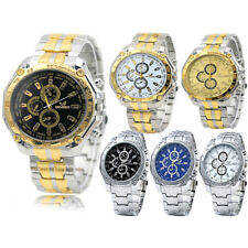 Mens Wrist Watches Quartz Stainless Steel Military  Army Fashion Sports Watch
