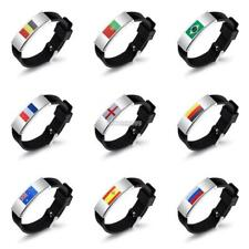 2018 World Cup Country Flag Silicone Bracelet Unisex Wristband Football ER99 01