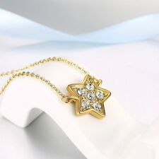 Trendy Star Shape Pendant Necklace Fashionable Jewelry Rhinestone Necklace HT