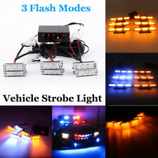 18/54 LED Car Truck Police Warning Emergency Recovery Strobe Lights Flash Dash