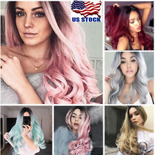 Lady 29'' Long Curly Wigs Fashion Cosplay Costume Hair Anime Full Wavy Party Wig