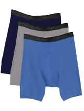 Jockey Boxer Briefs 3 Pack  Men's Large, XL Blue Grey Navy StayCool Cotton New