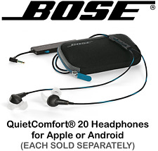 NEW Bose QC 20 QuietComfort Acoustic Noise Cancelling Headphones Apple ⊕ Android