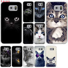 For Samsung Galaxy S8 S9 Plus S7 S6 Edge Cat Cover Mobile Phone Case Print Hard