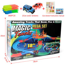 Magic Tracks Racingtrack 360pcs With LED Car Glowing In Dark DIY Toy 220pc 165pc