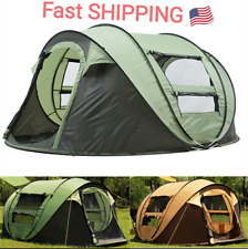 Outdoor 3-4 Persons Camping Tent Automatic Opening Waterproof Windproof Sunshade