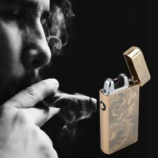 Dual Arc Electric USB Lighter Rechargeable Windproof Flameless Cigarette Tool