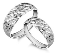 Glamour Couples Opening Adjustable Size 925 Silver Plated Band Ring Gift ET1125