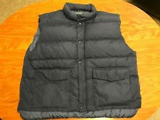 MENS CABELA'S NORTHERN PREMIER GOOSE DOWN NAVY BLUE OUTDOOR PUFFER VEST SIZE 2XL