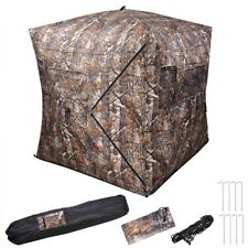 Portable Hunting Ground Blind Tent Real Tree Camo Hunt Archery Turkey Deer Duck