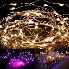 5M 50 LEDs Battery Operated Mini LED Copper Wire String Fairy Christmas Lights