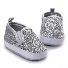 Baby Girl First Walks Rhinestone Crib Shoes Toddler Soft Sole Casual Slippers