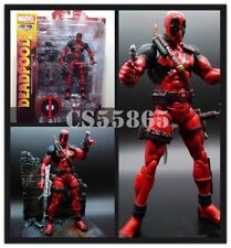 "7"" Marvel X-MAN Deadpool Action Figure With Scenes Collectable Toy Gift New"