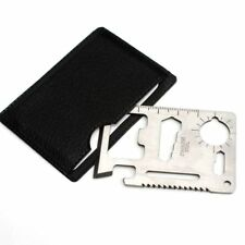 11 in 1 Multi Pocket Tools Hunting Survival Camping Military Credit Card Knife
