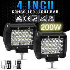 "4"" 200W LED Car Work Light Bar Flood Combo Pods Driving Off-Road Tractor 4WD SUV"