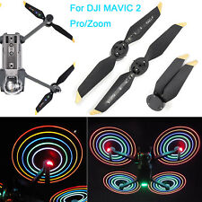 Low-Noise LED Flash Propellers Blades Night Flying Part for DJI MAVIC 2 Pro Zoom