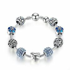 Silver LOVE FOREVER Amor Amour Charm Bracelet for Women DIY Jewelry Original Bea