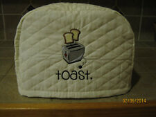 New Toaster Appliance Cover 2 or 4 Slice, Choose Black, Red or Cream/Ivory Color