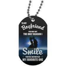 To my Boyfriend Dog Tag Gift From Girlfriend, Wife Pendant for Boyfriend Husband
