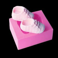 3D Baby Shoes Silicone Chocolate Fimo Clay Candy Mold DIY Cake Decoration Tools.