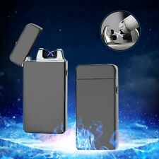 Luxury USB Rechargeable Dual Arc Electronic Lighter Flameless Windproof