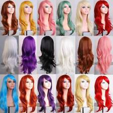 Stylish Full Wig For Women Cosplay Costume Heat Resistant Long Curly Wavy Hair @