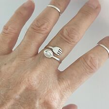 Sterling Silver Fork and Spoon Ring, Silver Rings, Spoon Ring